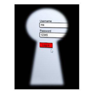 Passwort-Sicherheit Postkarte