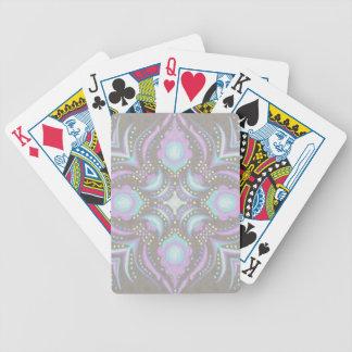 Pastell auf konkreter Straßen-Mandala Bicycle Spielkarten