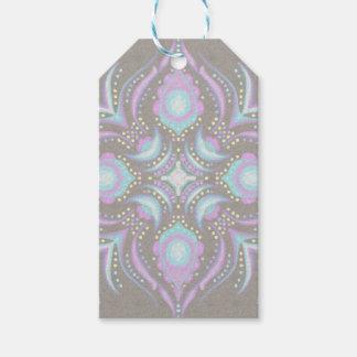 Pastell auf konkreter Straßen-Mandala Geschenkanhänger