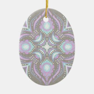 Pastell auf konkreter Straßen-Mandala Keramik Ornament