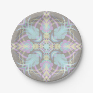 Pastell auf konkreter Straßen-Mandala Pappteller
