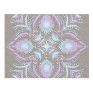 Pastell auf konkreter Straßen-Mandala Postkarte