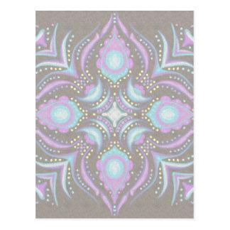 Pastell auf konkreter Straßen-Mandala Postkarten