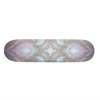 Pastell auf konkreter Straßen-Mandala Skateboardbrett