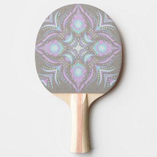 Pastell auf konkreter Straßen-Mandala Tischtennis Schläger