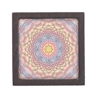 Pastell-Vintage Kaleidoskop-   Holz-Geschenkboxen Kiste