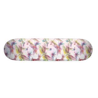 PastellAquarell-Libellen-Skateboard Skateboardbretter