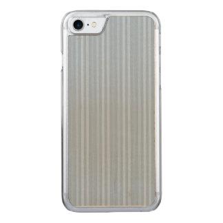 Pastellbaby-Blau-vertikale Streifen Carved iPhone 8/7 Hülle