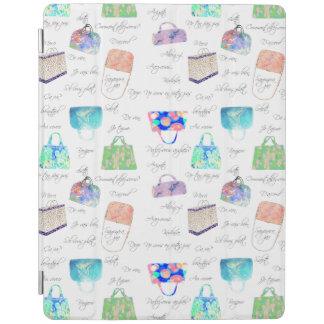 PastellblumenAquarell-Illustrations-Typografie iPad Hülle