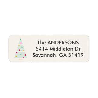 Pastellfeiertags-Baum-Rücksendeadresse-Aufkleber Kleiner Adressaufkleber