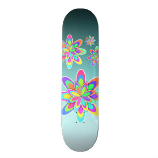 PastellFraktal-Girly Blumen Skate Board