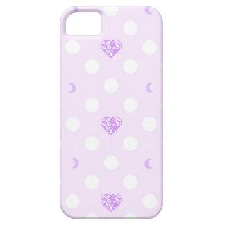 Pastellherz-Kristall und Mond iPhone 5 Schutzhülle