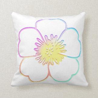 PastellImitatwatercolor-Painterly Blume Kissen