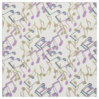 Pastellkettenverbindungs-Musiknoten-Muster-Gewebe Stoff