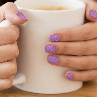 Pastelllavendel-Trauben-Pop-Blasen-Verpackung lila Minx Nagelkunst