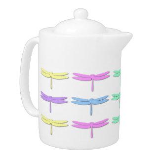 Pastelllibellen-Muster-Tee-Topf