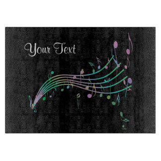 Pastellregenbogen-Musiknoten-Ausschnitt-Brett Schneidebrett