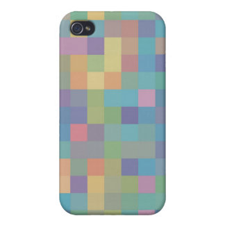 Pastellregenbogen-Pixel-Muster iPhone 4/4S Cover