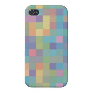 Pastellregenbogen-Pixel-Muster iPhone 4 Case