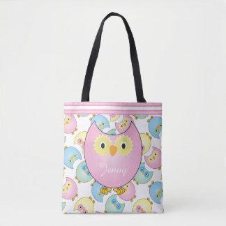 Pastellrosa-Baby-Eulen