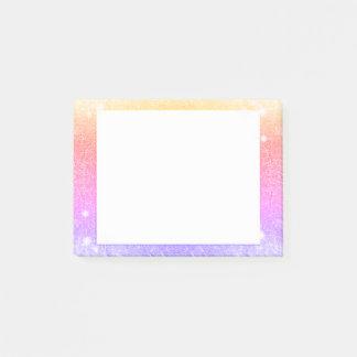 Pastellrosa-Lavendel-GoldGlitter-Schein Post-it Klebezettel