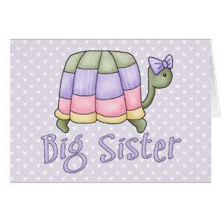 Pastellschildkröte-große Schwester Karte