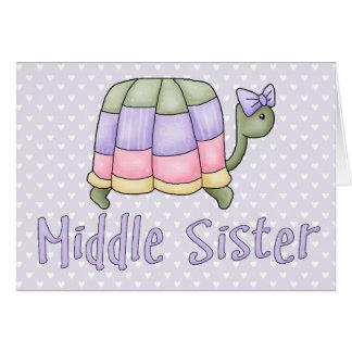 Pastellschildkröte-Mitte-Schwester Karte