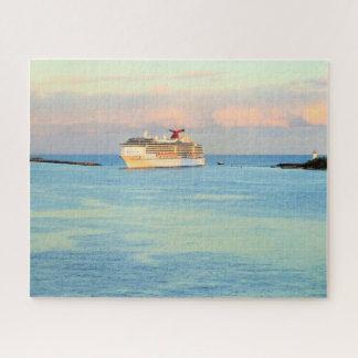 Pastellsonnenaufgang mit Kreuzschiff Puzzle