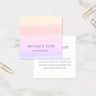 Pastellsonnenuntergang-Aquarell Quadratische Visitenkarte