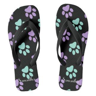 Pastelltatzen Flip Flops