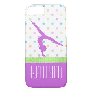 PastellTupfen-Gymnastik im Lavendel iPhone 8/7 Hülle