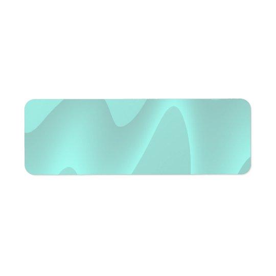 Pastelltürkis-abstraktes Strudel-Bild Rückversand-Adressaufkleber
