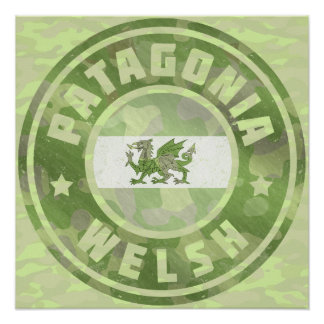 Patagonia-Waliser-Camouflage-Flagge Poster