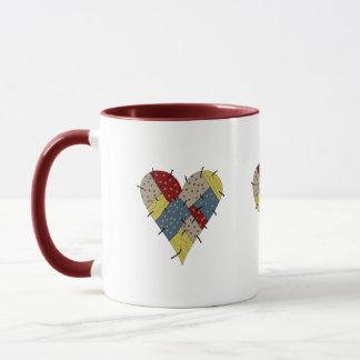 Patchwork-Herzen Tasse