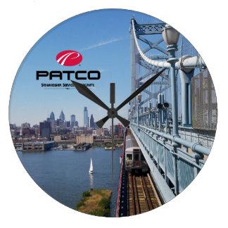 PATCO Philadelphia Skyline-Wanduhr - Kreis Große Wanduhr