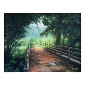Path across zu landscape of nature poster