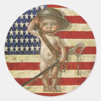 Patriot-Aufkleber mit niedlichem Runder Aufkleber