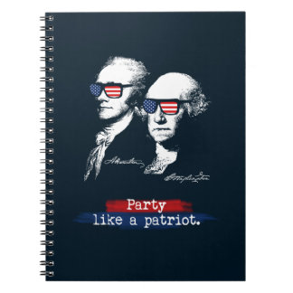 Patriot-Geschenk Alexander Hamiltons George Notizblock
