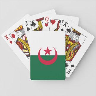 Patriotische algerische Flagge Spielkarten