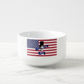 Patriotische amerikanische Flagge Große Suppentasse