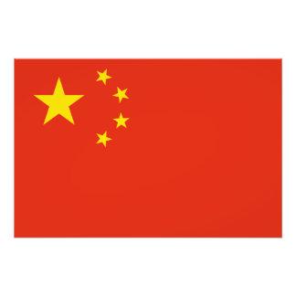 Patriotische chinesische Flagge Fotodruck