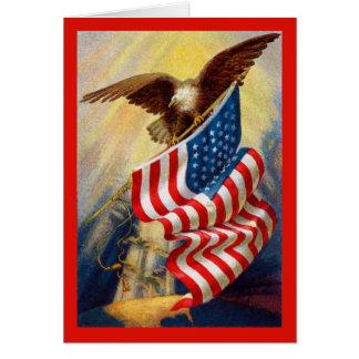 Patriotische Eagle-Karte Grußkarte