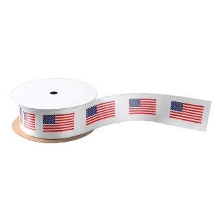 Patriotische Flaggesatingeschenk-Bandrolle Satinband