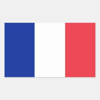 Patriotische französische Flagge Rechteckiger Aufkleber
