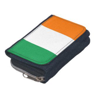 Patriotische Geldbörse mit Flagge von Irland