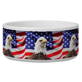 Patriotische Haustier-Schüssel Hundefutter-Näpfe