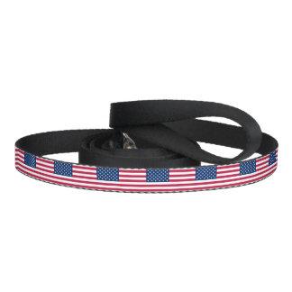 Patriotische Hundeleine mit Flagge von USA