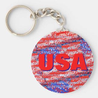 Patriotische Landesflagge USA Schlüsselanhänger