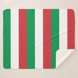Patriotische Sherpa Decke mit Italien-Flagge Sherpadecke