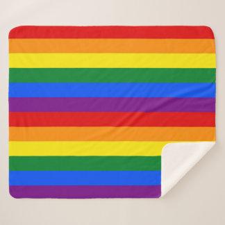 Patriotische Sherpa Decke mit LGBT Stolzflagge Sherpadecke
